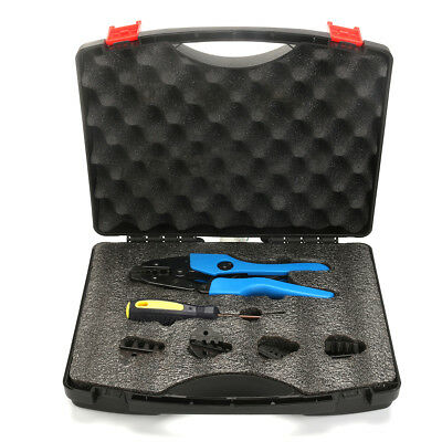 5Dies Ratchet Crimper Crimping Tool Kit Bootlace Open Barrel Non Insulated Plier