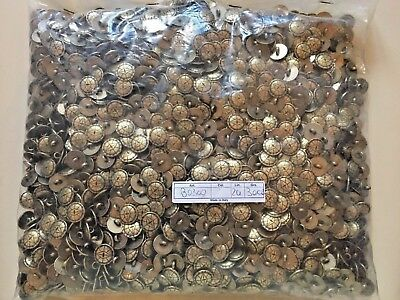 3000 Metal Buttons Antique Gold colour 15mm Shank Made in Italy Job Lot Bundle