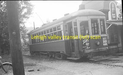 Johnstown Traction Company (Pa) Original B&w Trolley Negative Of Car 355 In 1945