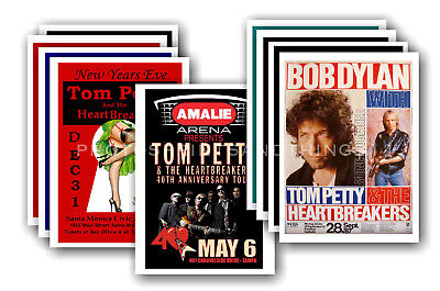 TOM PETTY - 10 promotional posters - collectable postcard set # 4