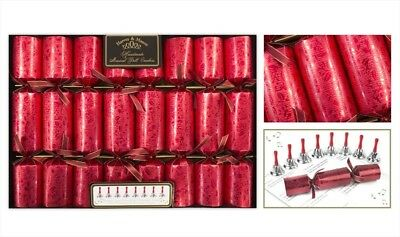 Christmas Crackers Luxurious Musical Bell Box of 8 Party Tableware Decoration