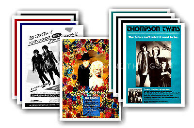 THOMPSON TWINS - 10 promotional posters - collectable postcard set # 1