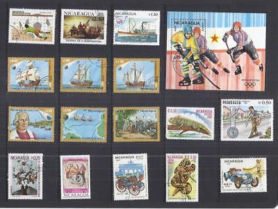 y3042 South America - Nicaragua /  A small collection Early & Modern Lhm & Used
