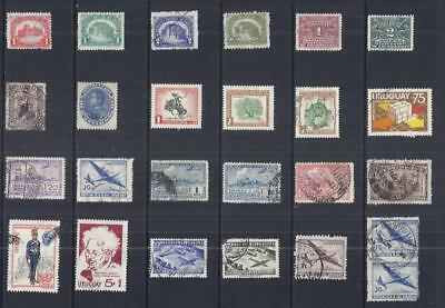 y3048 South America - Uruguay/  A small collection Early & Modern Lhm & Used