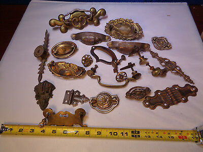 Antique Mixed Lot of Atchitectural Hardware  Drawer Pulls & More