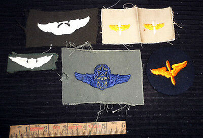 WW2 US Army USAAF Military Airborne Patch Propellor Wings LOT