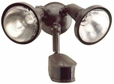 Motion Security Floodlight with Reflectors Heavy Duty Die Cast Metal Bronze