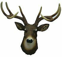 8 Point Buck Deer Head Wall Mount - Awesome Cold Cast Resin & Hand Painted Eyes
