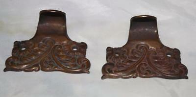 2 Pairs of Antique Victorian Case Iron Sash Lift Window Lefts Copper Finish