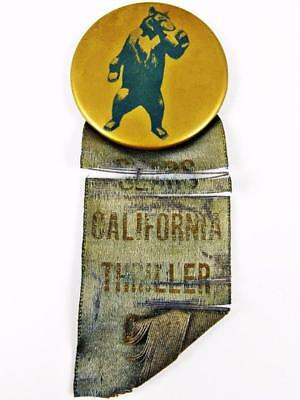 Vintage Sears California Thriller Celluloid Advertising Pin Pinback Button Badge