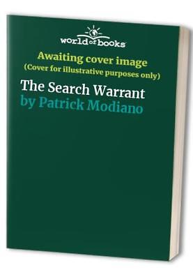The Search Warrant by Patrick Modiano Book The Cheap Fast Free Post
