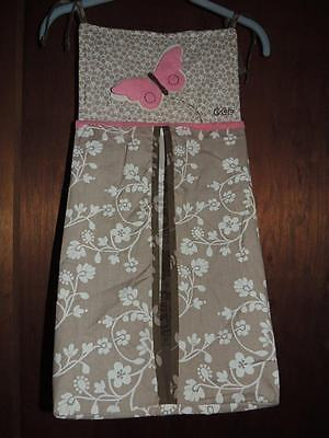 Cocalo Mia Rose Diaper Stacker Pink Plush Butterfly Brown & White Floral