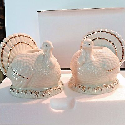 Lenox Turkey Taper Candlestick Candle Holders Set of 2 NEW IN BOX