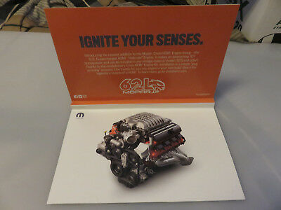 Mopar SEMA Show 2017 Scratch & Sniff Engine Sounds Ad Card with Decal Stickers