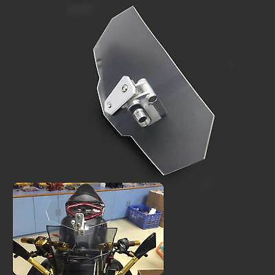 Motorcycle Windshield Windscreen Wind Screen Deflector Clip-on Clear Universal
