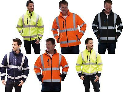 Yoko HVK09 Hi Vis SoftShell Jacket | Hi Visibility Security Waterproof Work Coat