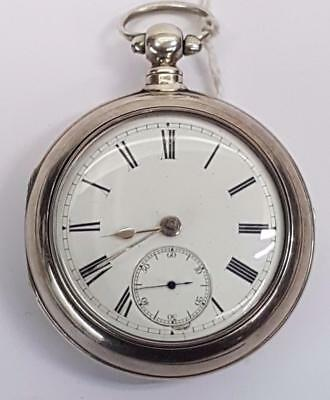 D Burnfield Of Porth Pair Silver Case Fusee Pocket Watch Circa 1893