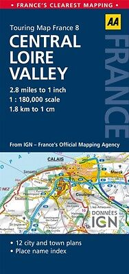 AA Road Map Central Loire Valley (AA Touring Map France 08) (Map). 9780749575526