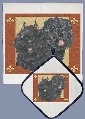 Dish Towel & Pot Holder - Bouvier des Flandres DP502