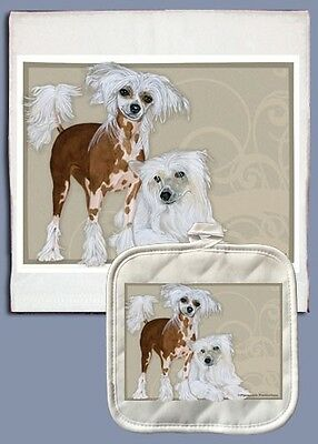 Dish Towel & Pot Holder - Chinese Crested DP598