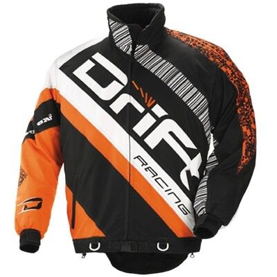 Drift Racing Men's Non-insulated Racing Jacket - Orange and Black - 5245-34_