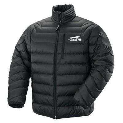 Arctic Cat Men's Windproof Nylon Puffy Aircat Down Coat - Black - 5260-91_