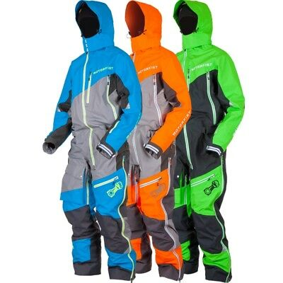 Motorfist Men's Blitzkrieg Suit - Uninsulated Waterproof - Blue Orange Green
