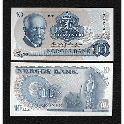 Norway P-36c 1979 10 Kroner-Crisp Uncirculated