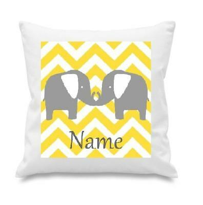 Unisex Chevron Elephants  Cushion Cover Can Be Personalised  New Free P&p