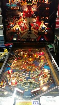 kings of steel pinball machine Bally Midway 1983 arcade game 4 player