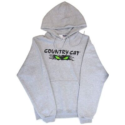 Country Cat Men's Cat Eyes Logo Black Sweatshirt 50/50 Cotton Poly - CCGREYSWT_