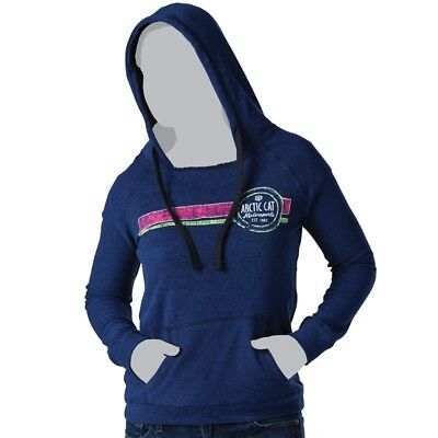 Arctic Cat Junior's Open Neck Motorsports Hoodie Sweatshirt - Blue - 5263-80_