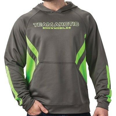Arctic Cat Men's Team Sport Stripe Relaxed Fit Hoodie - Gray Green - 5283-12_