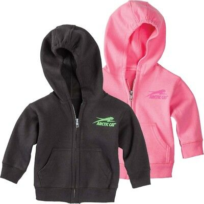 Arctic Cat Infant Toddler Spirit Full Zip Hoodie Sweatshirt - Black or Pink
