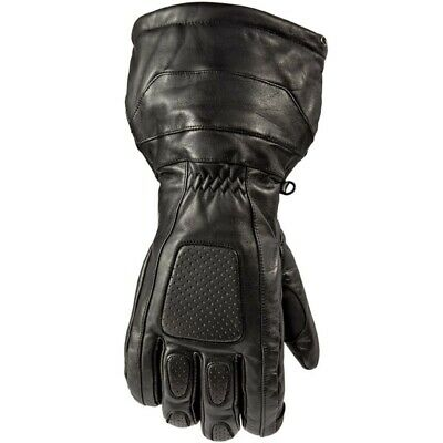 Arctic Cat Adult Touring Insulated Leather Hi-Cuff Gloves - Black - 5282-03_