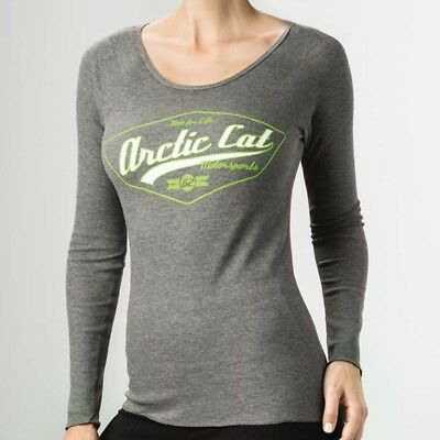 Arctic Cat Women's Ride For Life Thermal Long-Sleeve T-Shirt - Gray - 5283-47_