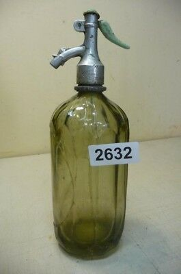 2632. Alte Sodaflasche  Siphonflasche 1 l Old soda siphon seltzer