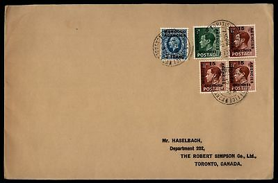 Morocco Agencies 1937 Multifranked to Canada Mixed Reign Franking