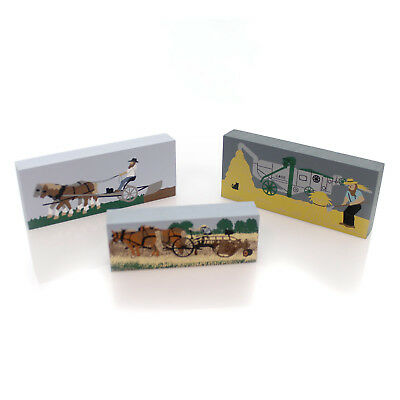 Cats Meow Village AMISH ACCESSORIES #1 SET / 3 Wood Retired Amish1