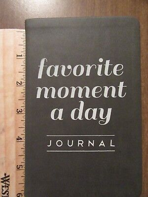 Favorite Moment A Day Journal By Eccolo - 3.5 X 5.75 inches - Dark Gray - NEW