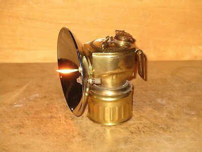 Miners JUSTRITE  CARBIDE LAMP - NICE!! - WORKING!