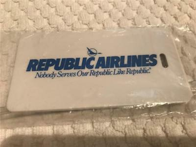 REPUBLIC AIRLINES Vintage Sealed Baggage Tag