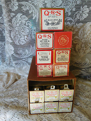Lot of 13 QRS Player Piano Rolls - Most 1960s, 70's~Excellent Cond.~ Free Ship~