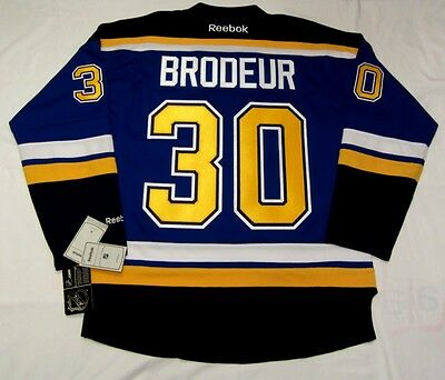 MARTIN BRODEUR - size XL - St. Louis Blues Reebok Premier Hockey Jersey - home