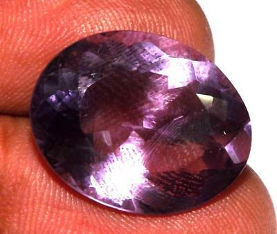 14.80 cts Natural Earth Mined Amethyst 19 x 15 mm Gemstone #eam1219