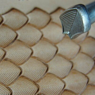 James Linnell - Lined Dragon Scale Geometric Stamp (Leather Stamping Tool)