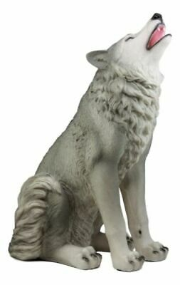 "Egift Home Large Wolf Statue 18""H Mysterious Cries Of The Night Wolf Figurine"
