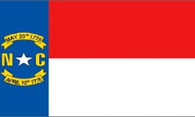 North Carolina Flag NC State Banner Pennant 2x3 foot Indoor Outdoor 24x36 inches