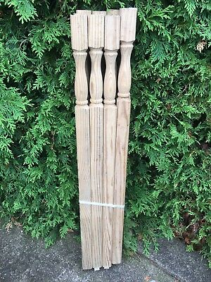 LOT Of 12 Pressure Treated Turned Wood NEWEL POST DECK Spindles Salvage NOS
