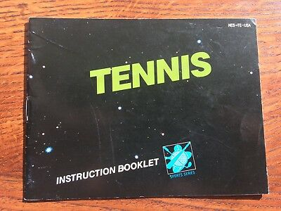 Tennis Black Box Version NES Nintendo Instruction Manual Only